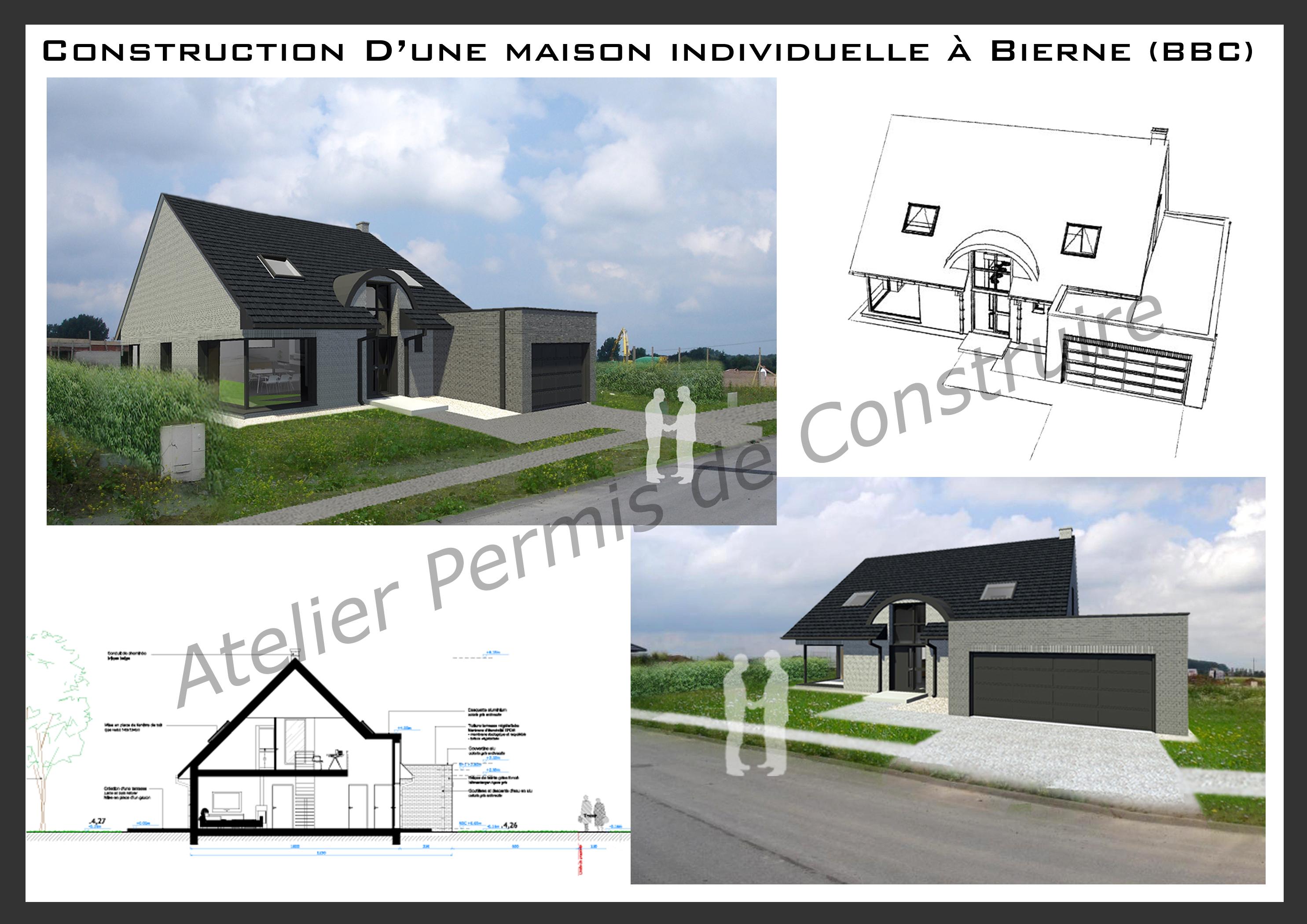 Construction d 39 une maison individuelle bierne for Construction de maison individuelle