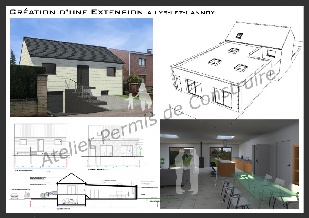 13.02. Atelier permis de construire - Extension Lys lez Lannoy