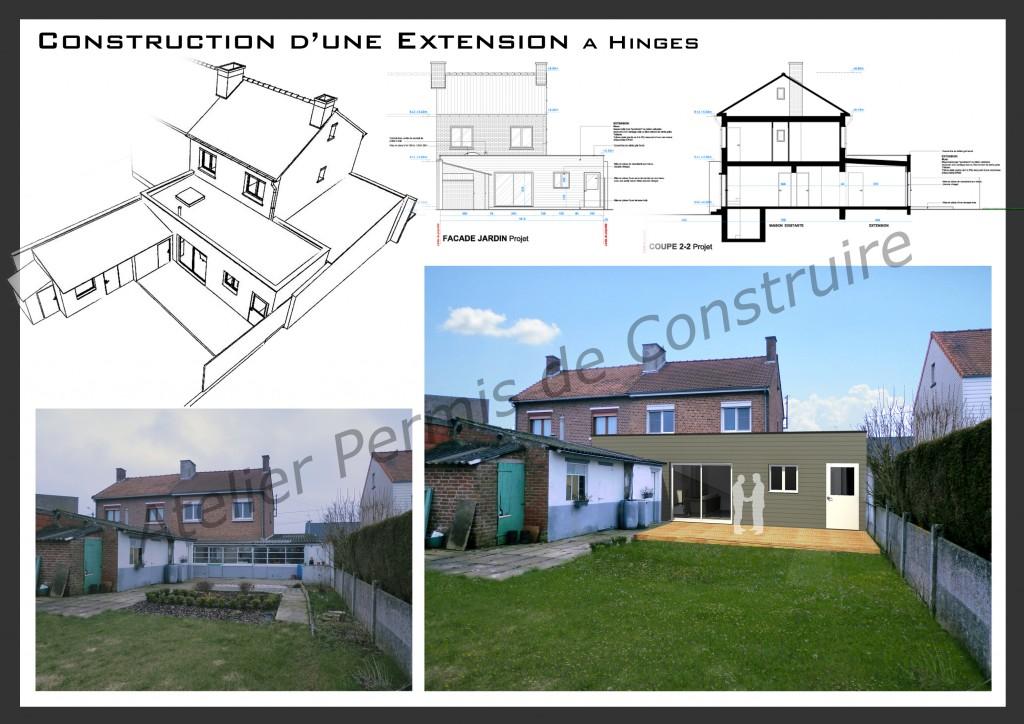 13.08. Atelier permis de construire - Extension Hinges