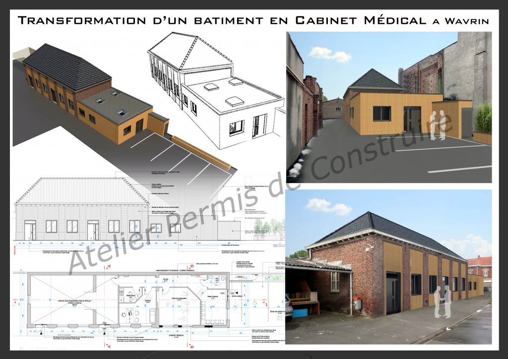 13.09. Atelier permis de construire - Cabinet médical - Wavrin