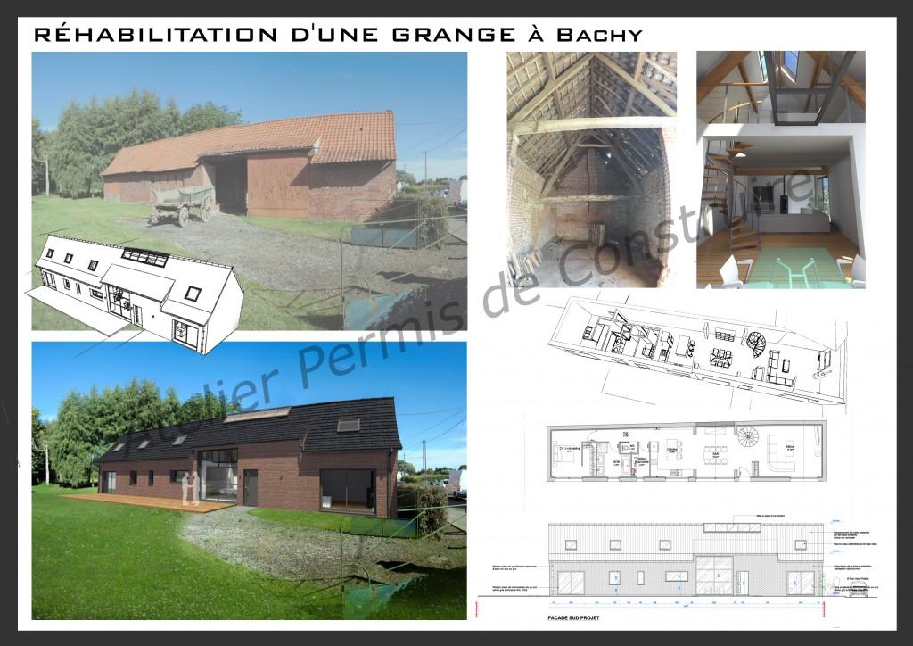 13.20. Atelier permis de construire - Rénovation d'une grange à Bachy
