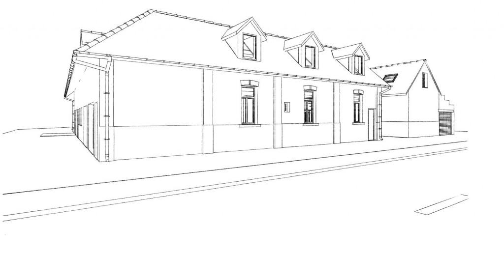 13.22. Atelier permis de construire - Transformation d'une ferme en 4 logements 1