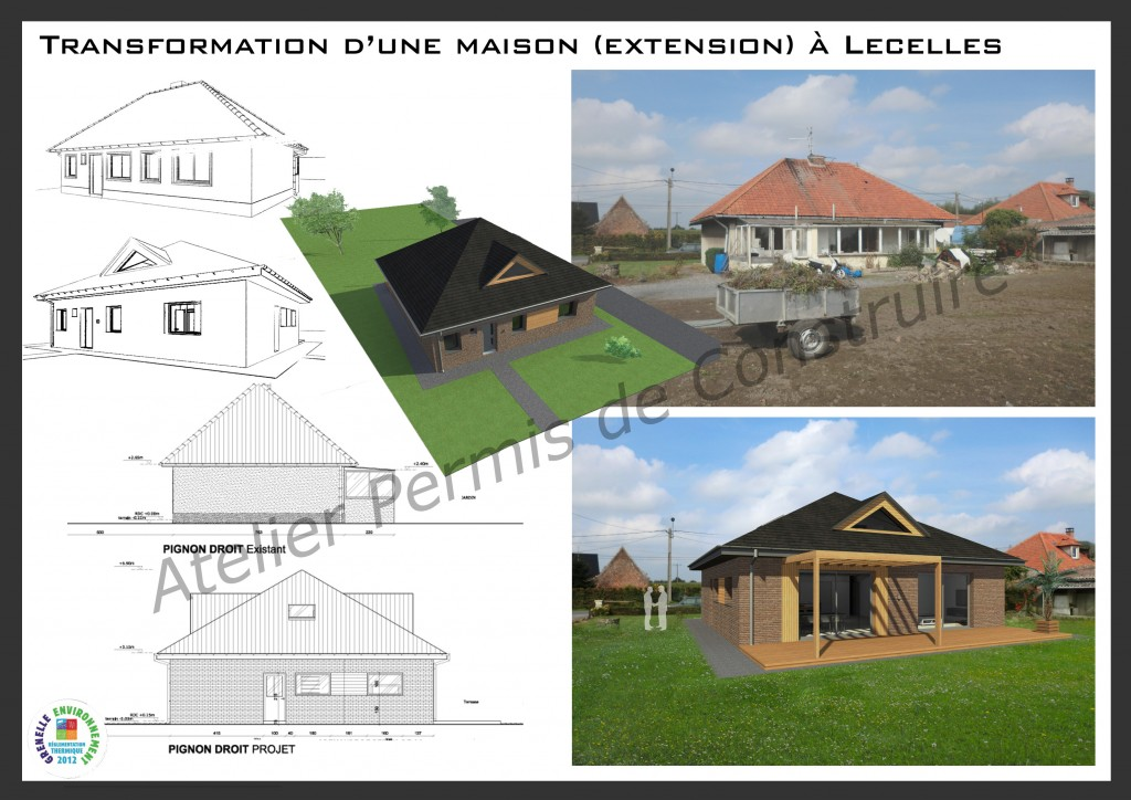 13.23. Atelier permis de construire - Extension maison Lecelles