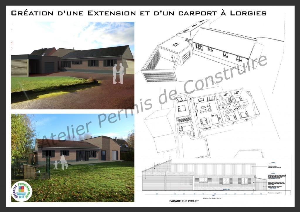 13.25. Atelier permis de construire - Extension maison Lorgies
