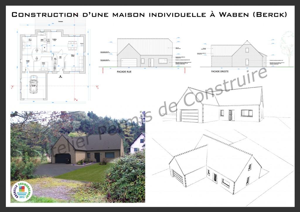 13.27. Atelier permis de construire - Construction d'une maison individuelle à Waben