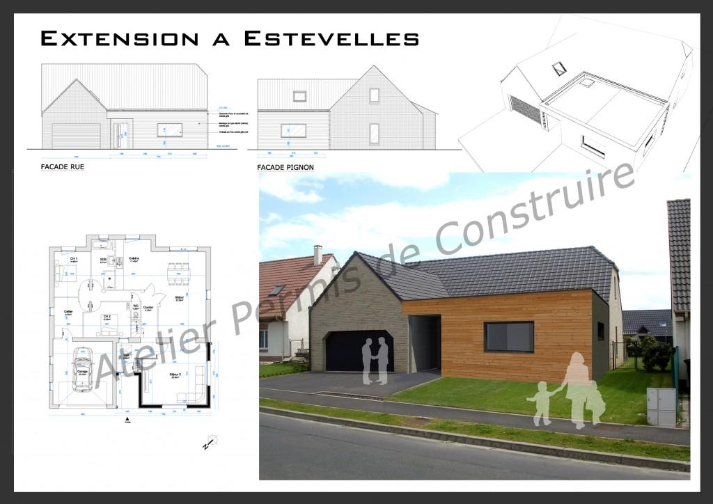 14. Atelier permis de construire Extension Estevelles 1