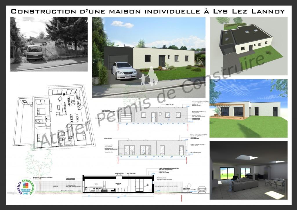 14.01 Construction maison Lys lez Lannoy - Atelier permis de construire