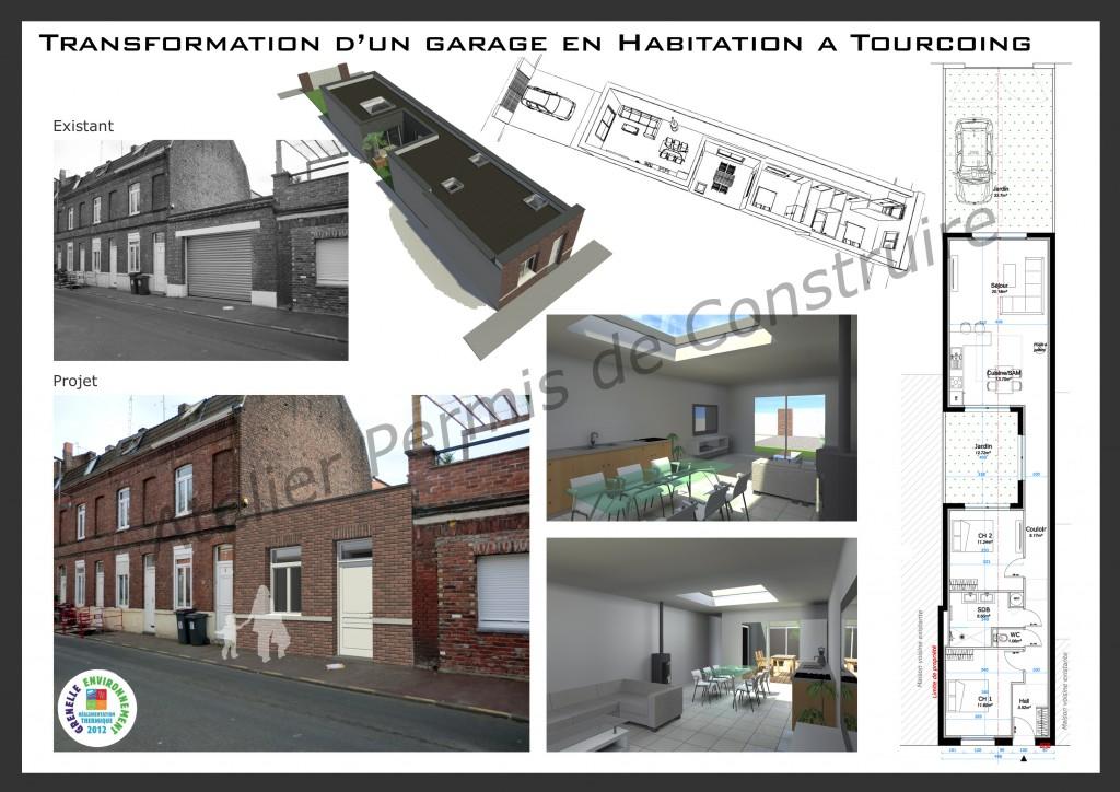 14.07 Construction maison Tourcoing - Atelier permis de construire