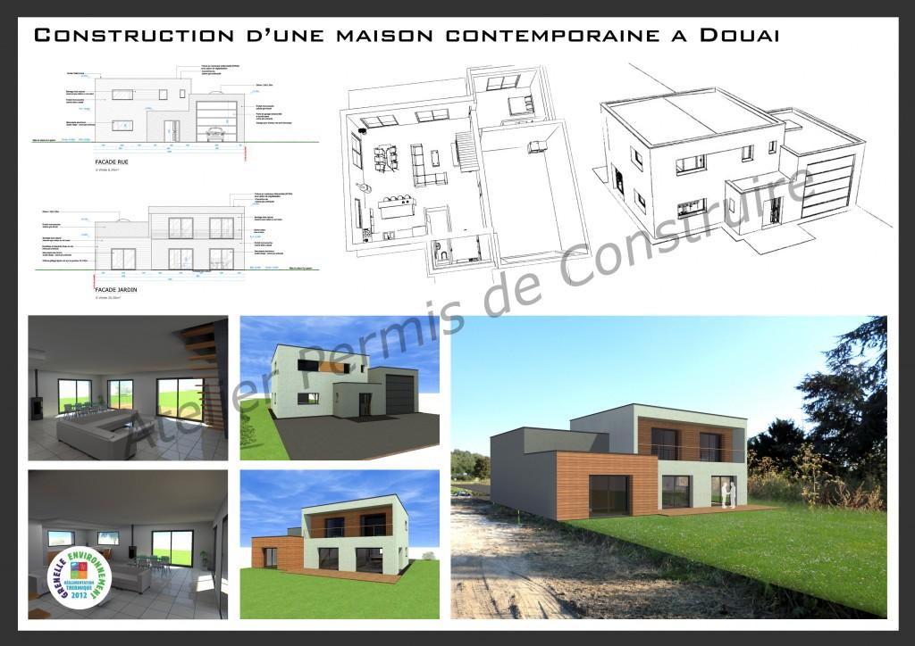 14.10 Permis de construire construction cubique nord Douai