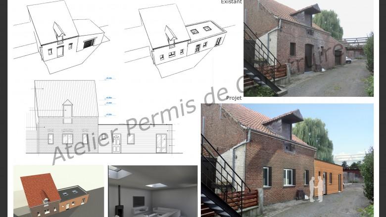 Grange transform e atelier permis de construire - Permis de construire extension ...