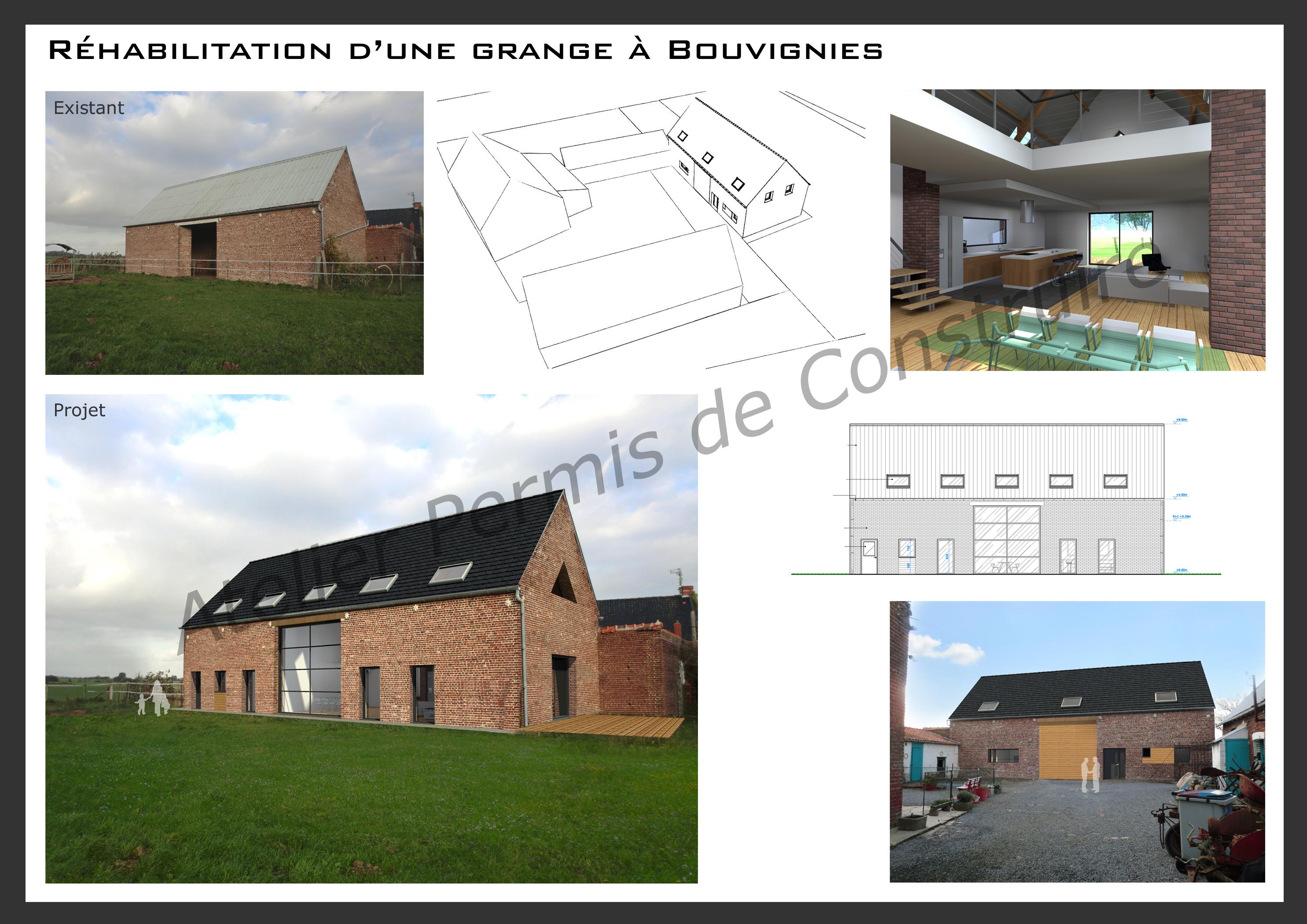 R habilitation d 39 une grange bouvignies - Rehabilitation d une grange en habitation ...