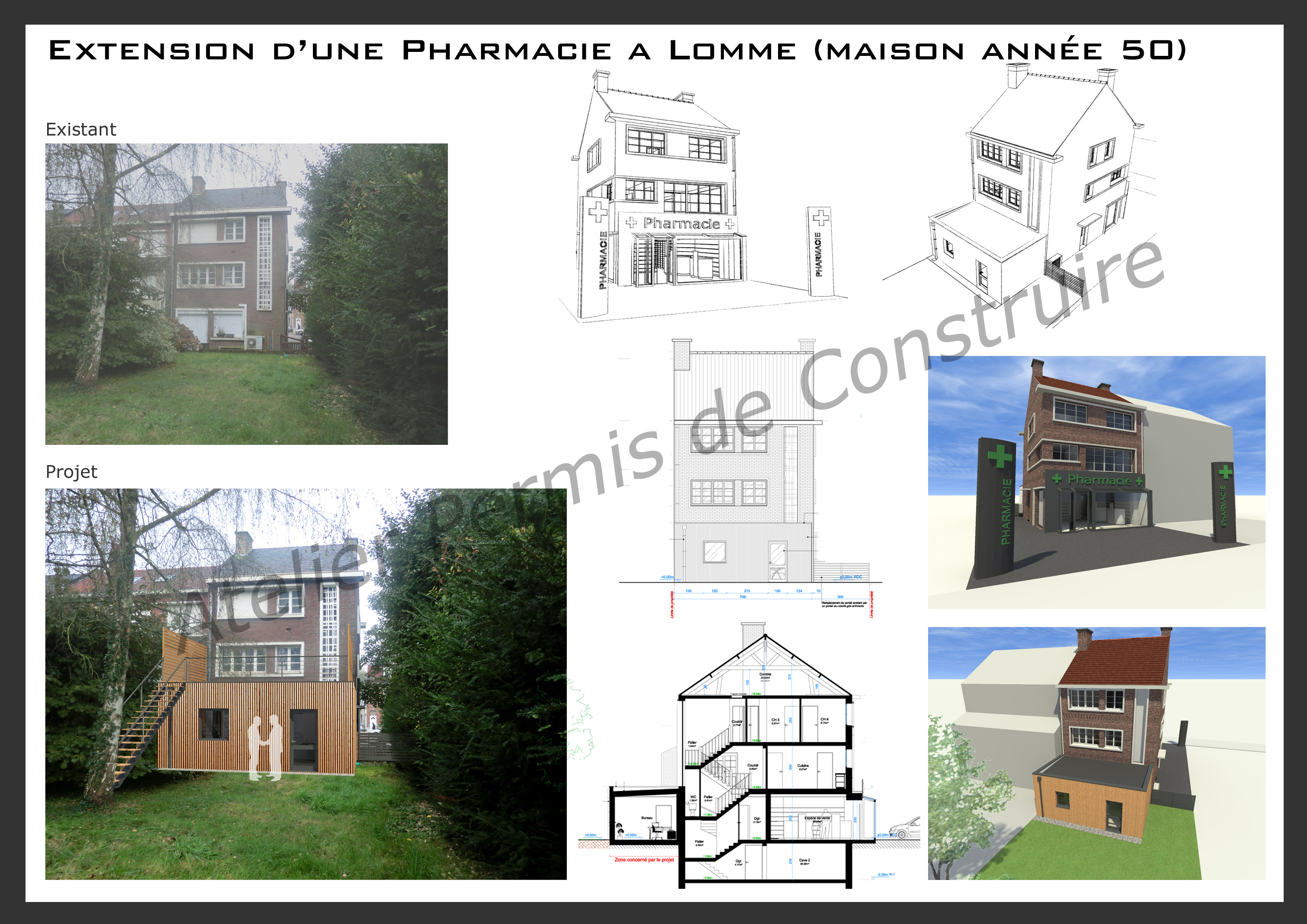2014 atelier permis de construire for Extension maison 17