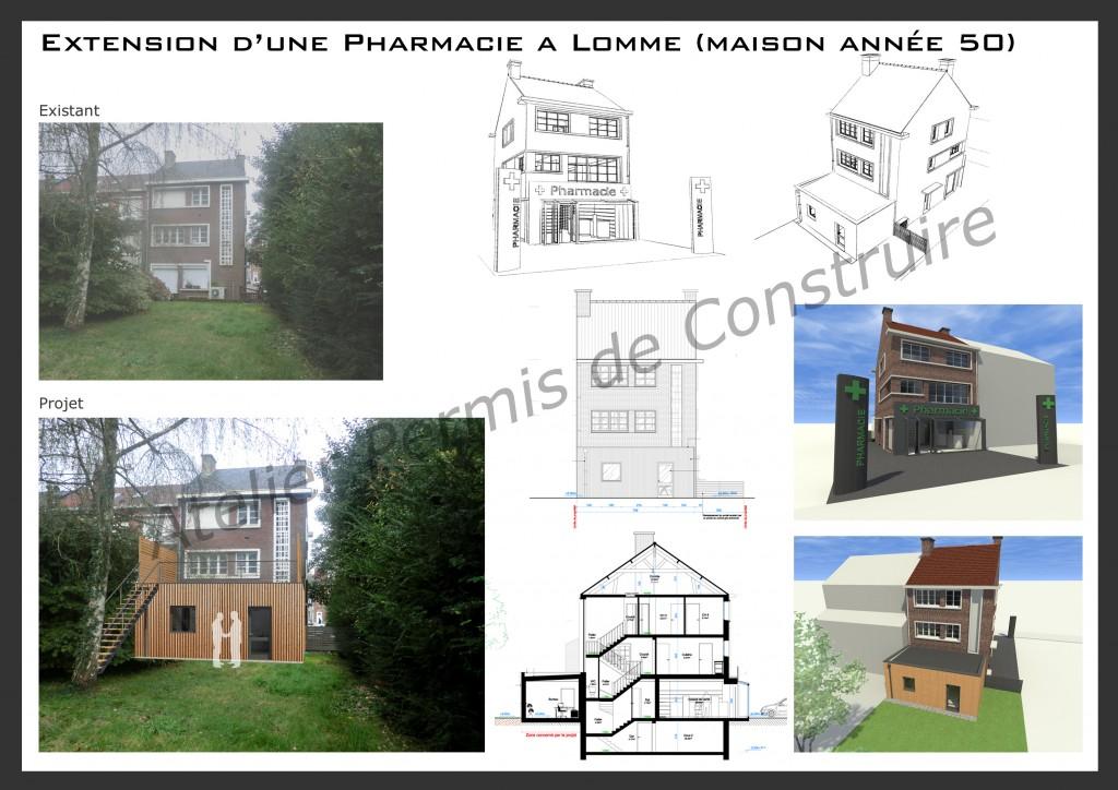 14.17 Permis de construire lomme maison année 50 pharmacie particulier