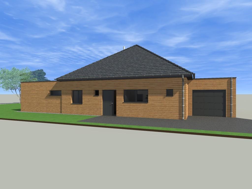 17.4 Atelier permis de construire Maison Plein Pied Sainghin en Weppes