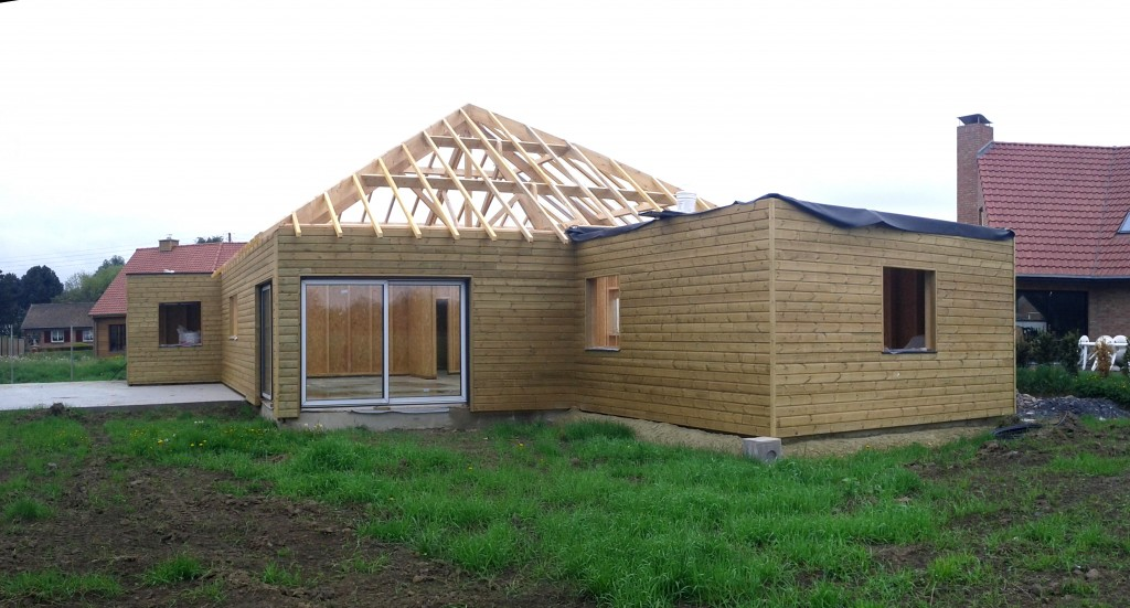Construction Atelier Permis de construire Ossature Bois Sainghin en weppes 1