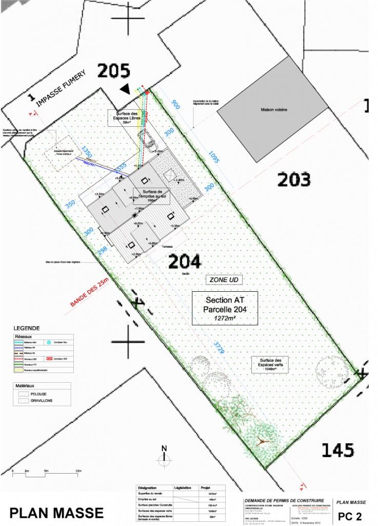 Exemple de permis de construire - Exemple plan de masse ...