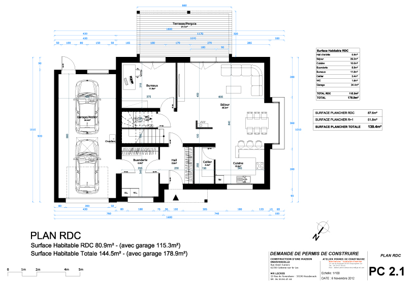 dimension garage exemple permis de construire garage