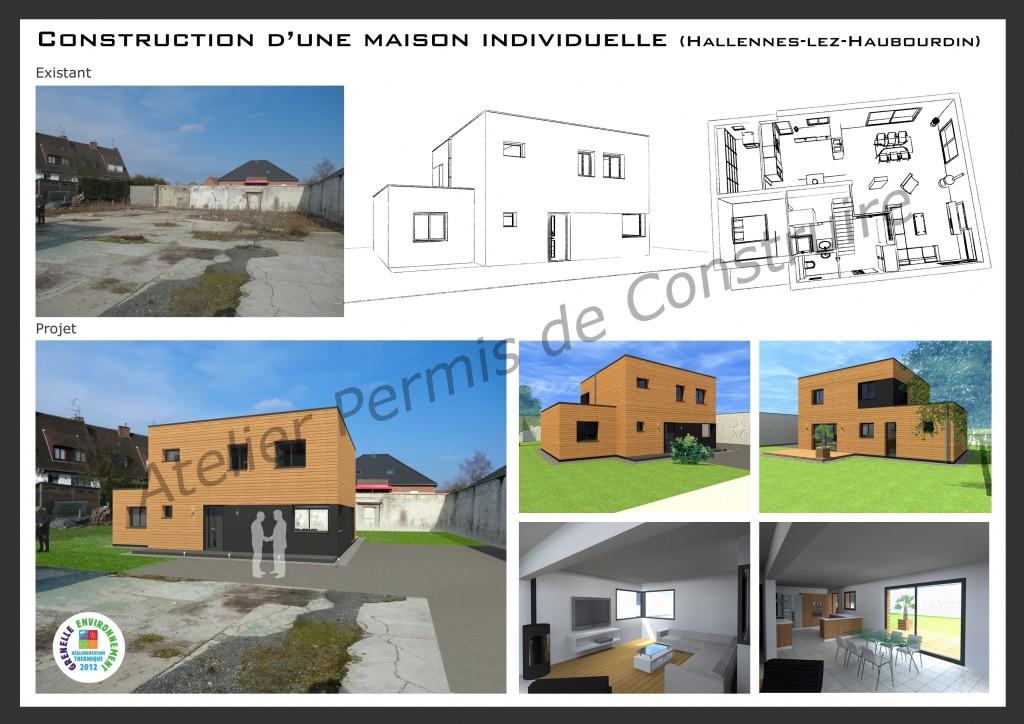 15.06 Construction maison nord - projet permis de construire halennes lez haubourdin