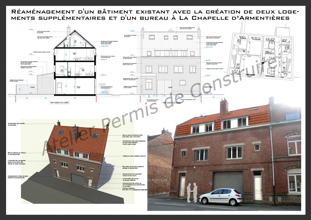 15.04 projet permis de construire nord La Chapelle d'Armentières