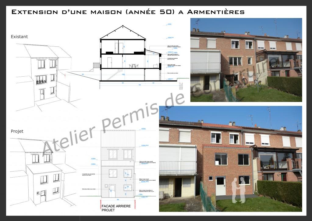 15.13 extension maison année 50 Nord Armentières