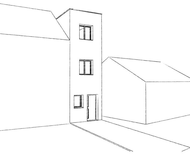 14.08 Extension maison étroite Dunkerque - Atelier permis de construire1