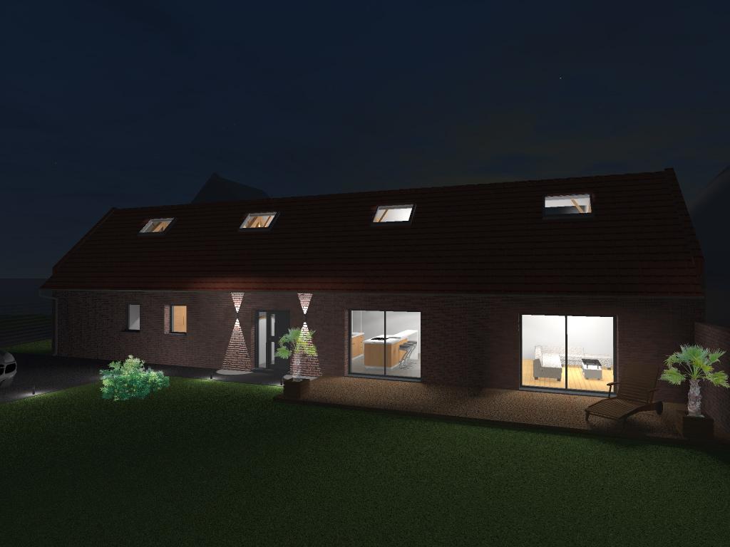 15.12 rénovation d'une grange Nord Permis de construire Fline-lez-raches13.2