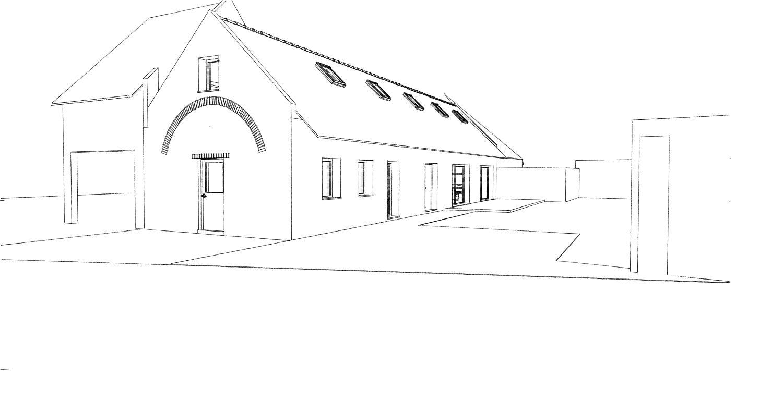 15.12 rénovation d'une grange Nord Permis de construire Fline-lez-raches7