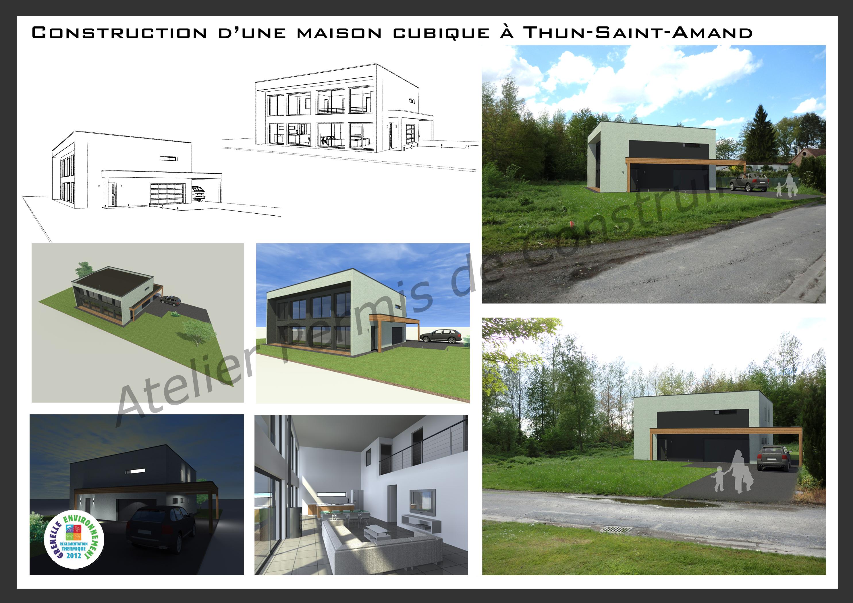 15.17 Permis de construire maison nord Thun Saint Amand