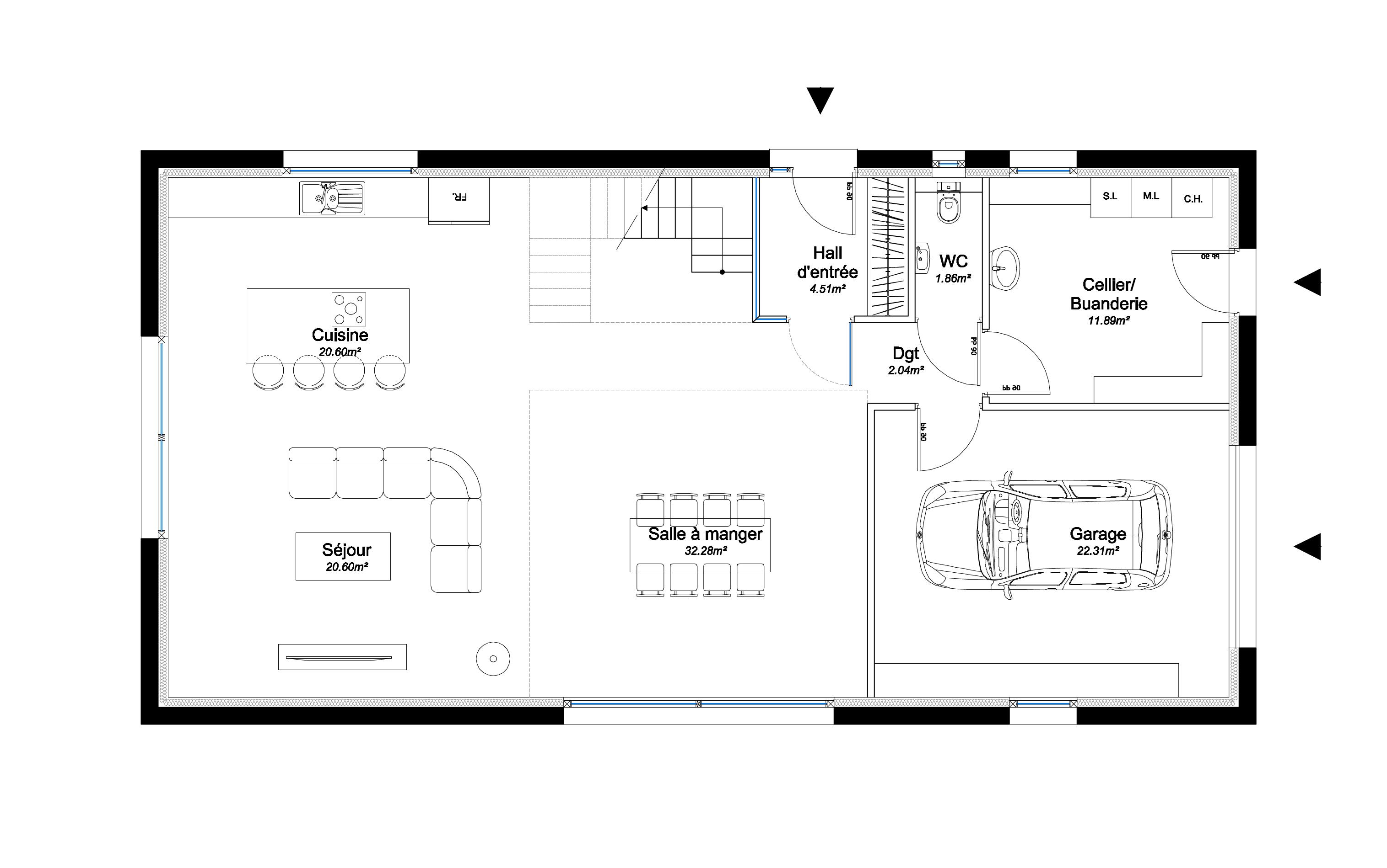 Construire une maison de 100m2 cool prix maison neuve m u for Construire une maison de 200m2