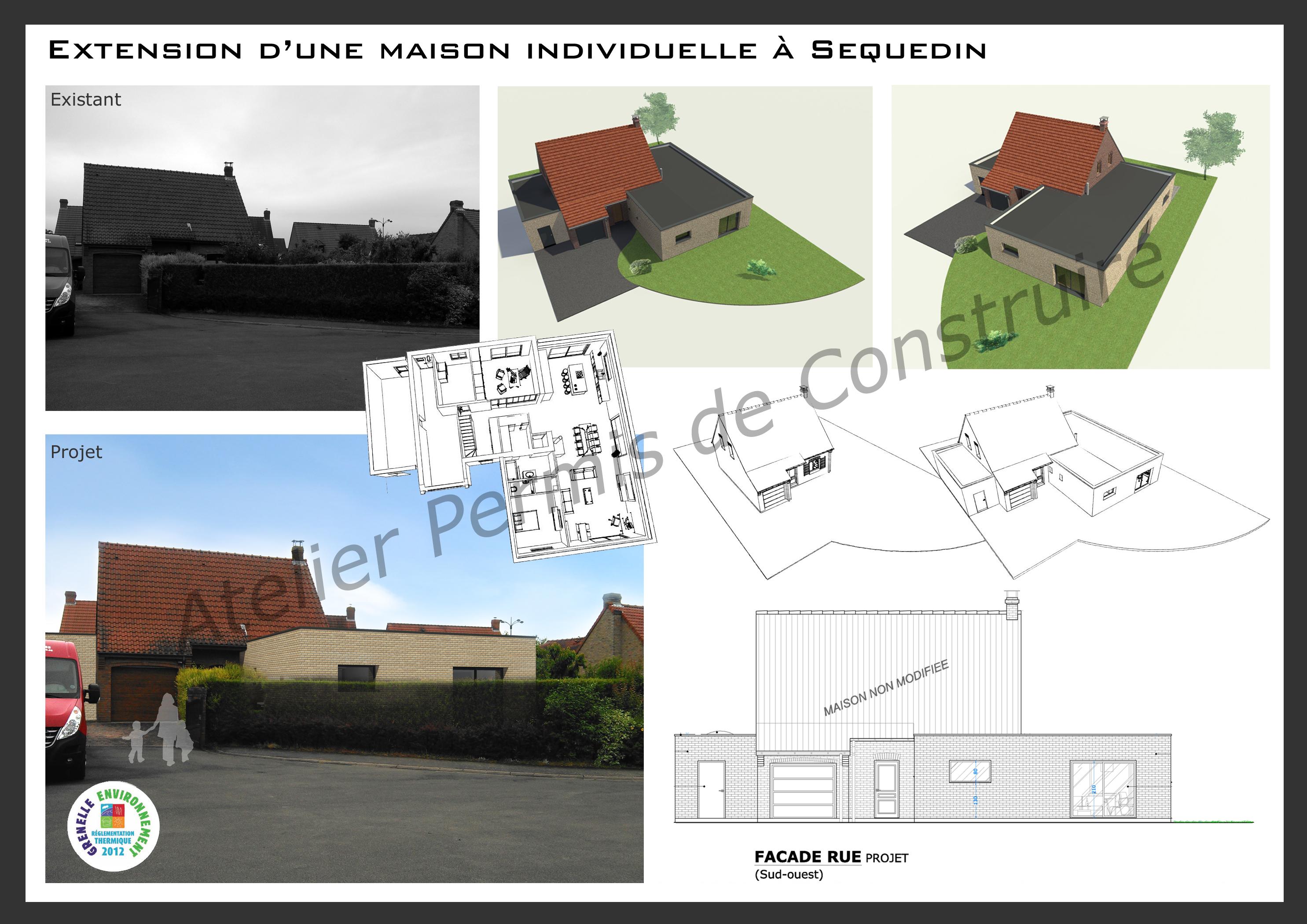 15.20 Atelier Permis de construire extension nord Sequedin