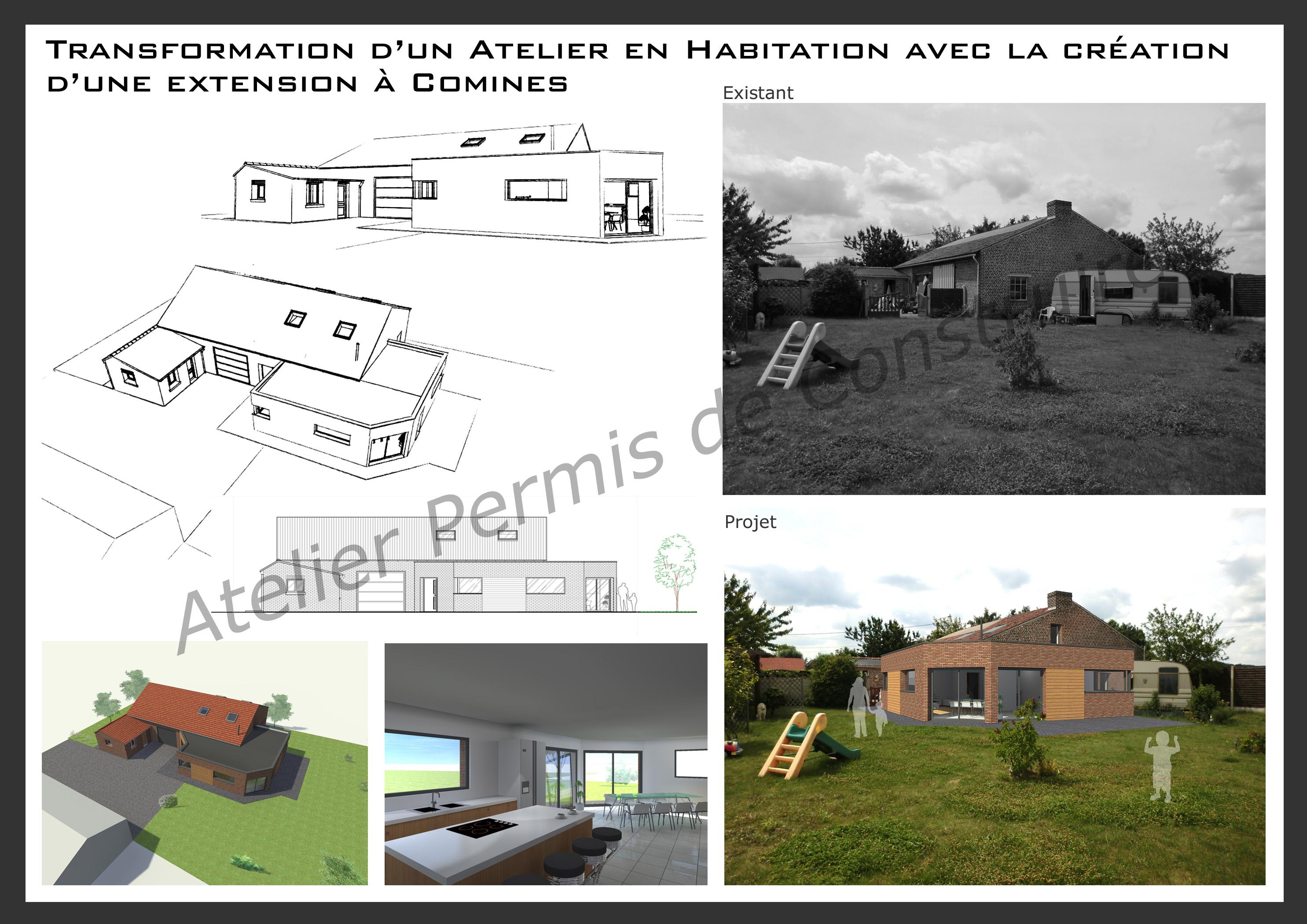 15.11 Atelier Permis de construire extension nord Comines
