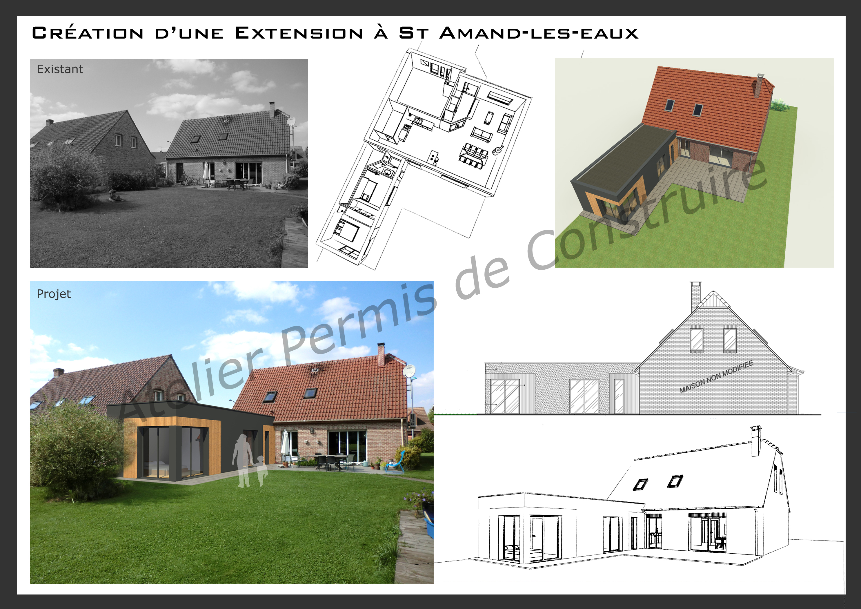 Cr ation d 39 une extension saint amand les eaux for Permis de construire extension maison