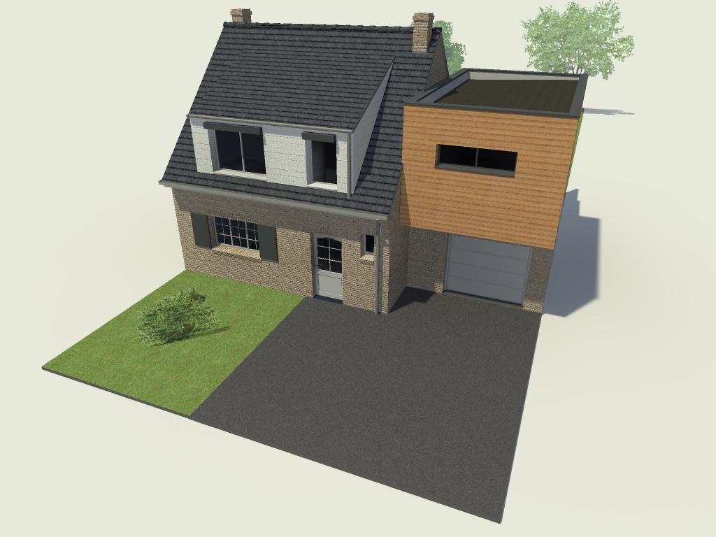 15.31 Atelier Permis de construire extension nord Avelin3