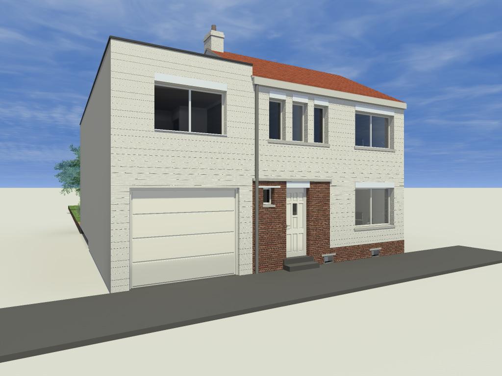 15.26 Extension maison permis de construire nord Valenciennes10