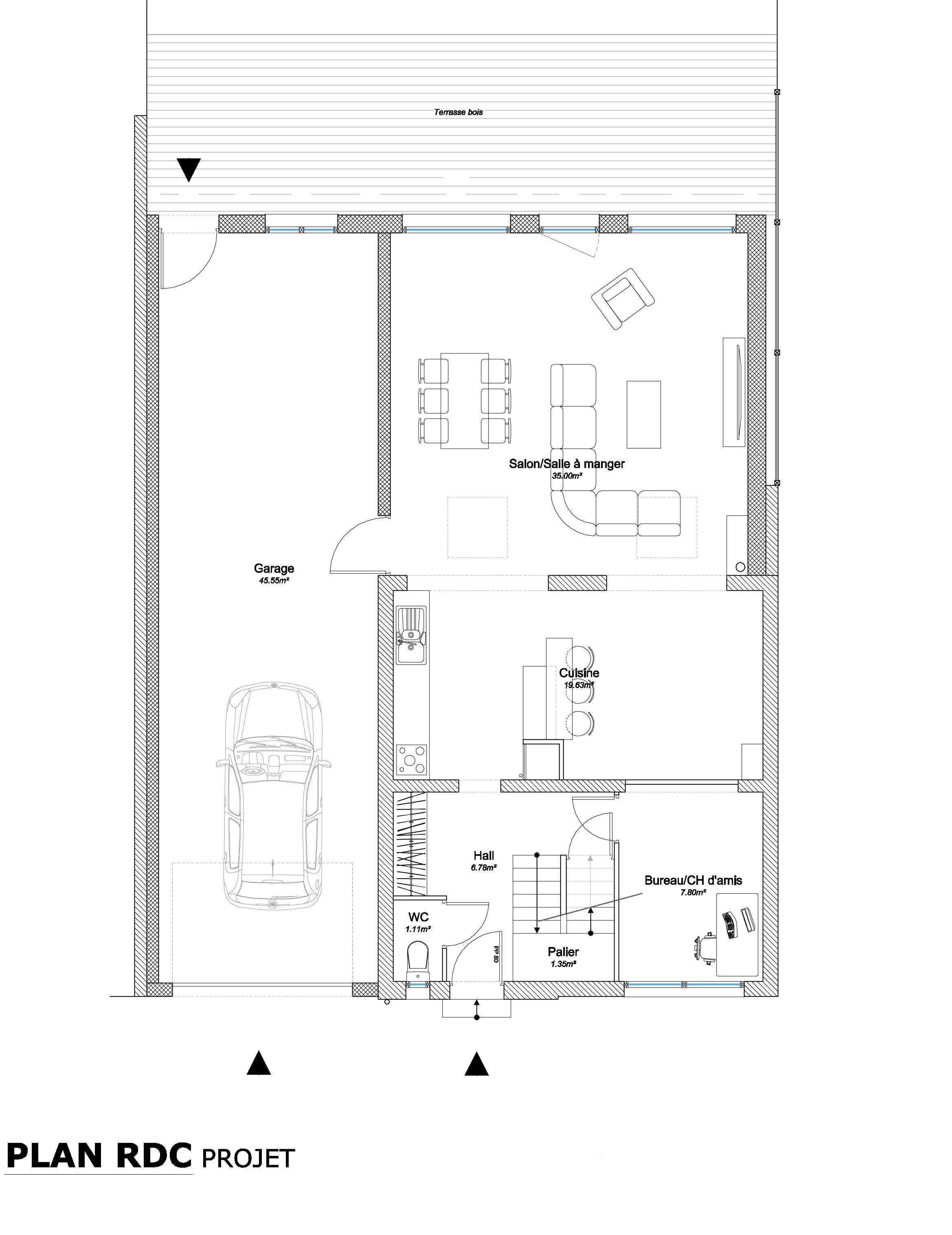 15.26 Extension maison permis de construire nord Valenciennes7