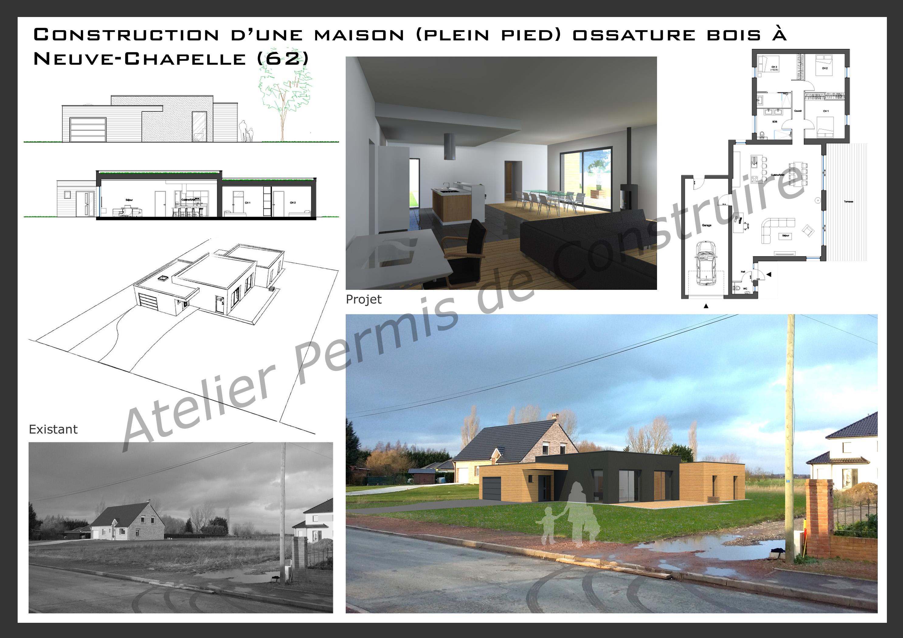 16.02 Atelier permis de construire maison Neuve Chapelle