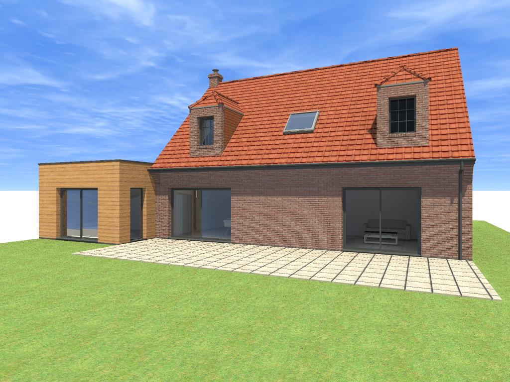 16.04 Extension maison permis de construire nord Famars10