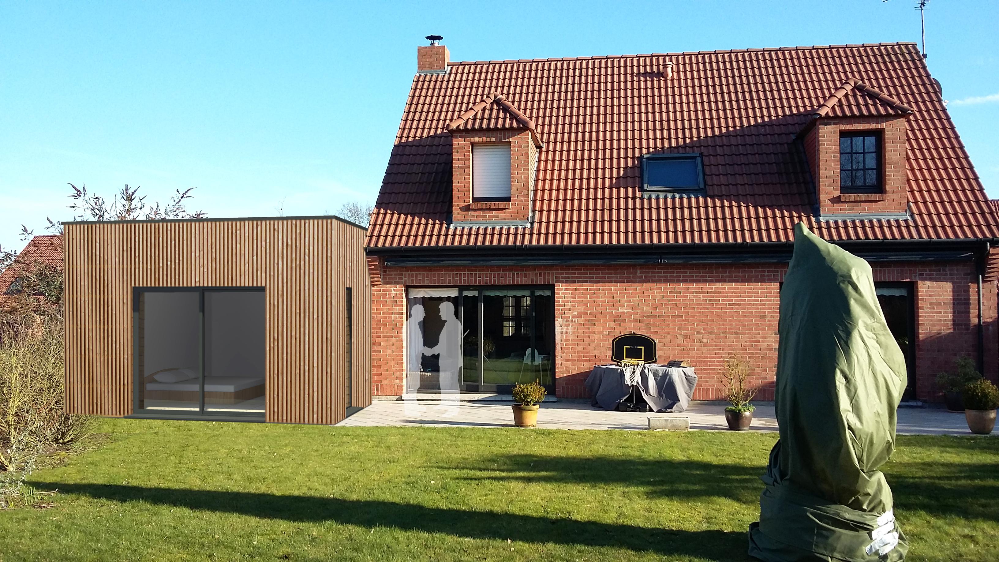 16.04 Extension maison permis de construire nord Famars12
