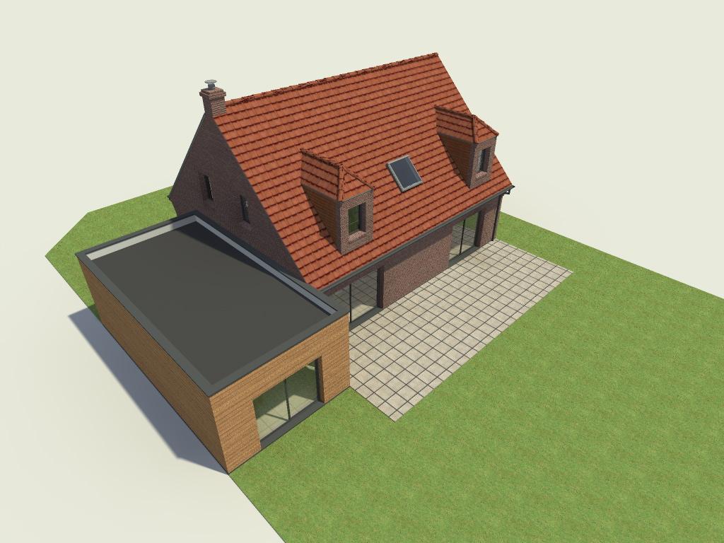 16.04 Extension maison permis de construire nord Famars2.3