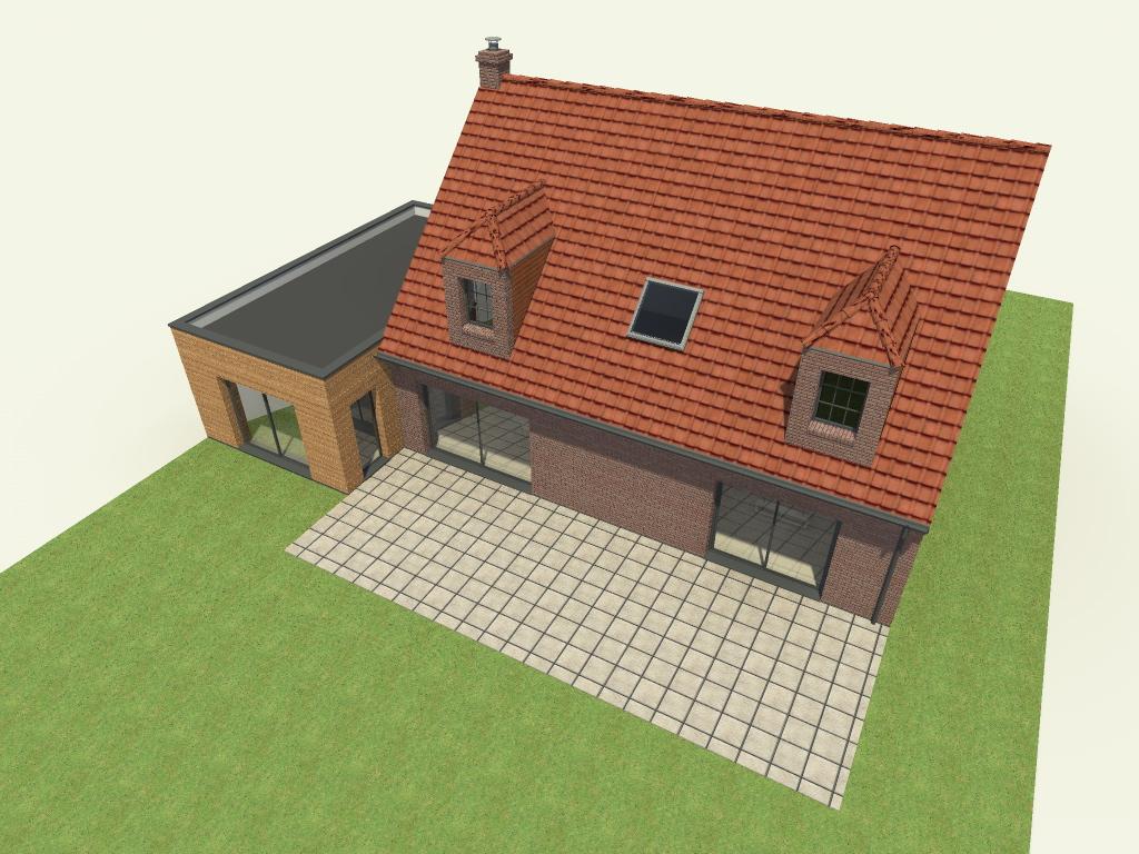 16.04 Extension maison permis de construire nord Famars2.4