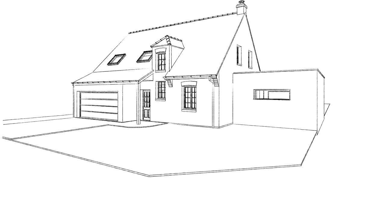 16.04 Extension maison permis de construire nord Famars4