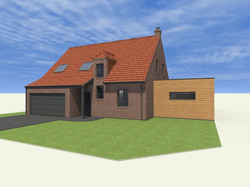 16.04 Extension maison permis de construire nord Famars5