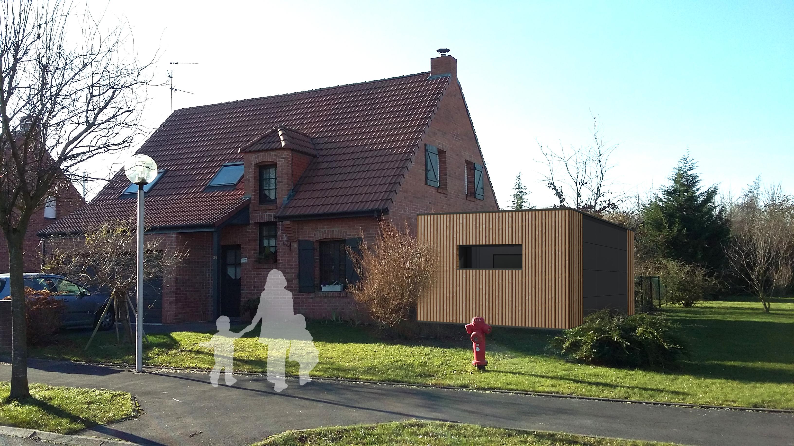 16.04 Extension maison permis de construire nord Famars7