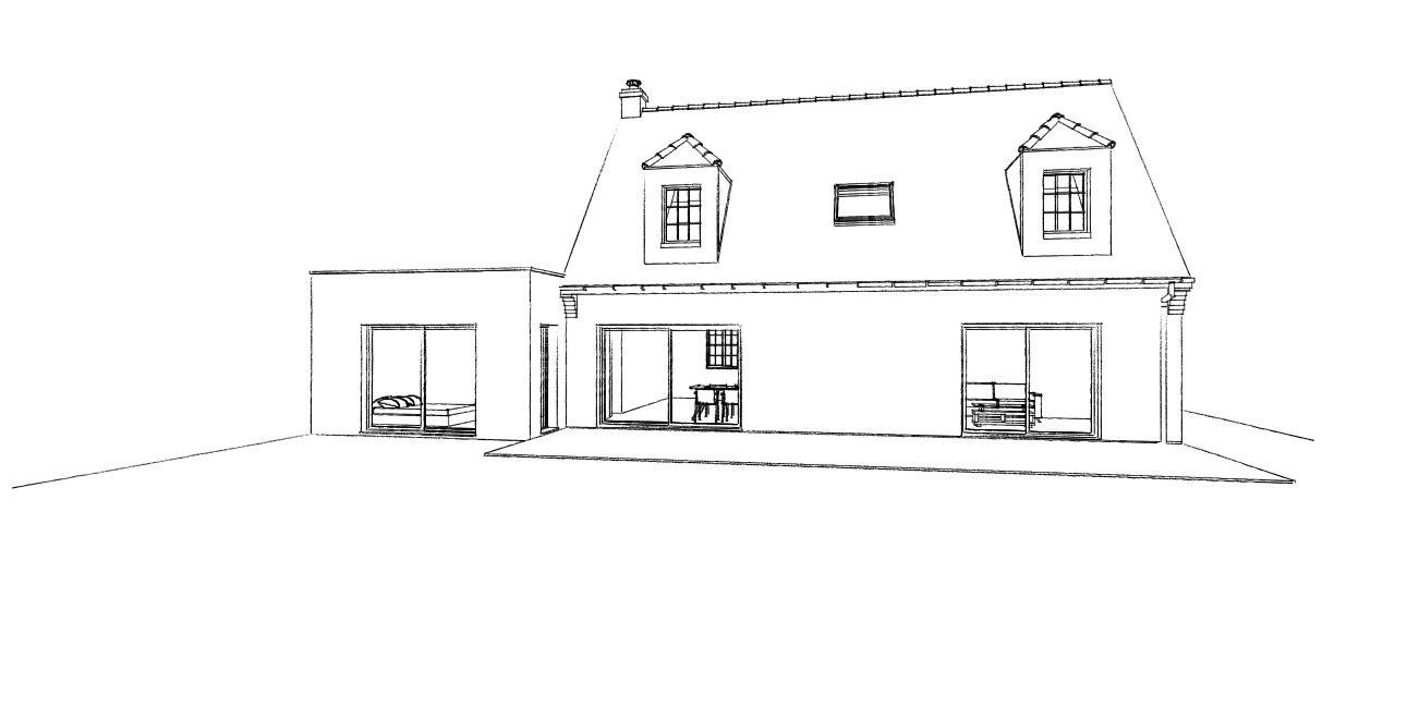 16.04 Extension maison permis de construire nord Famars9