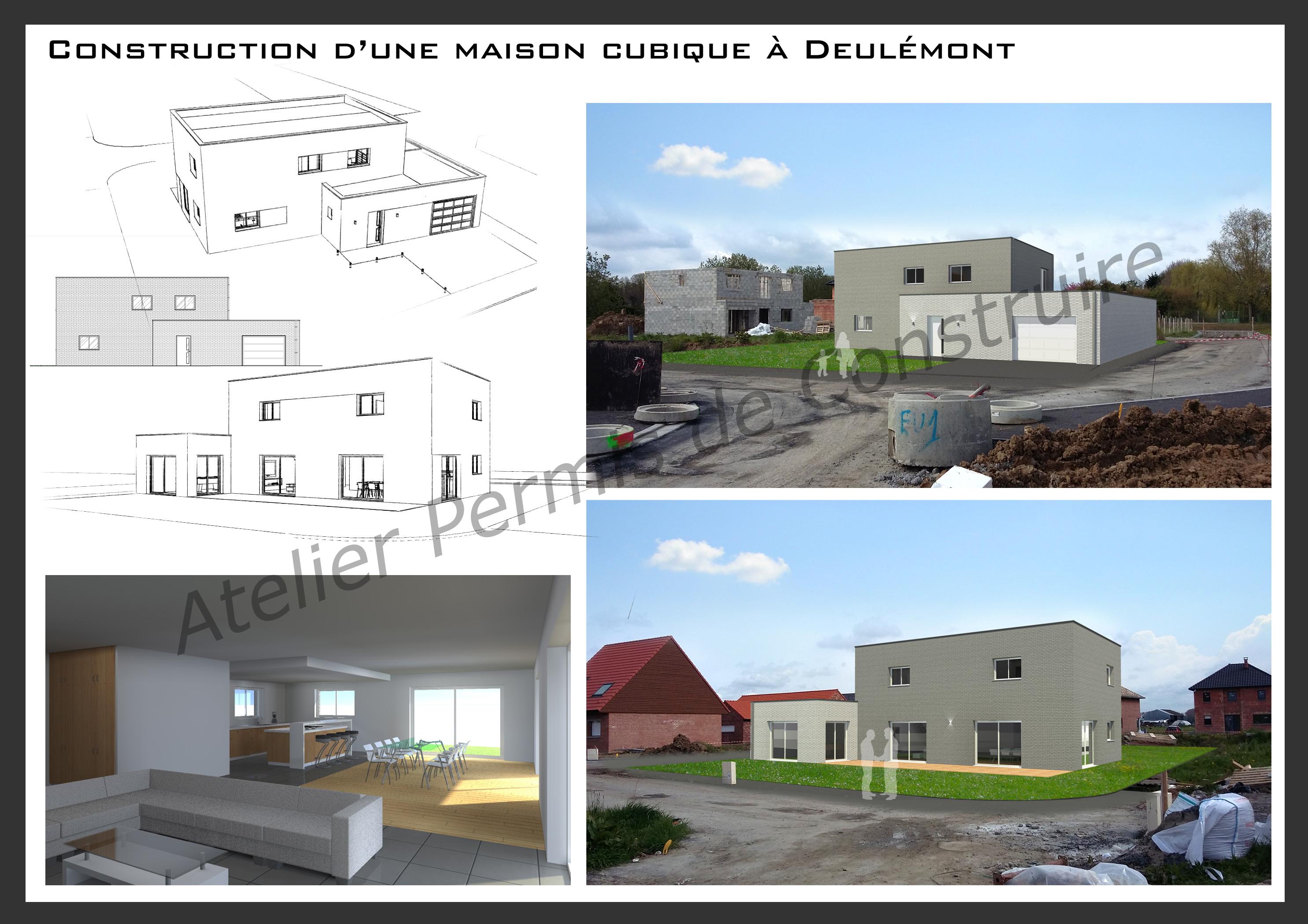 16.10 Atelier permis de construire maison cubique architecte
