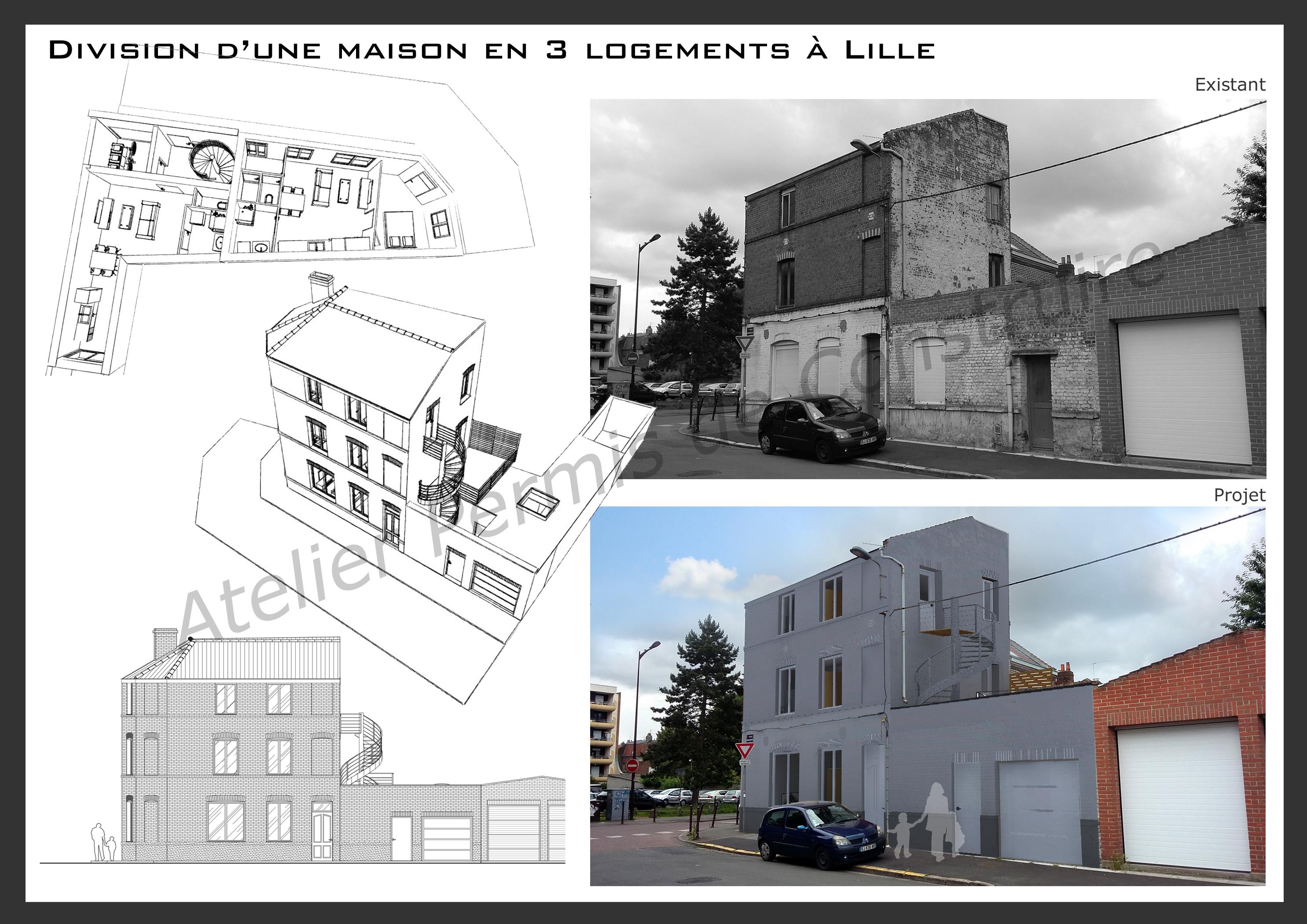 16.33 permis de construire division maison Lille0