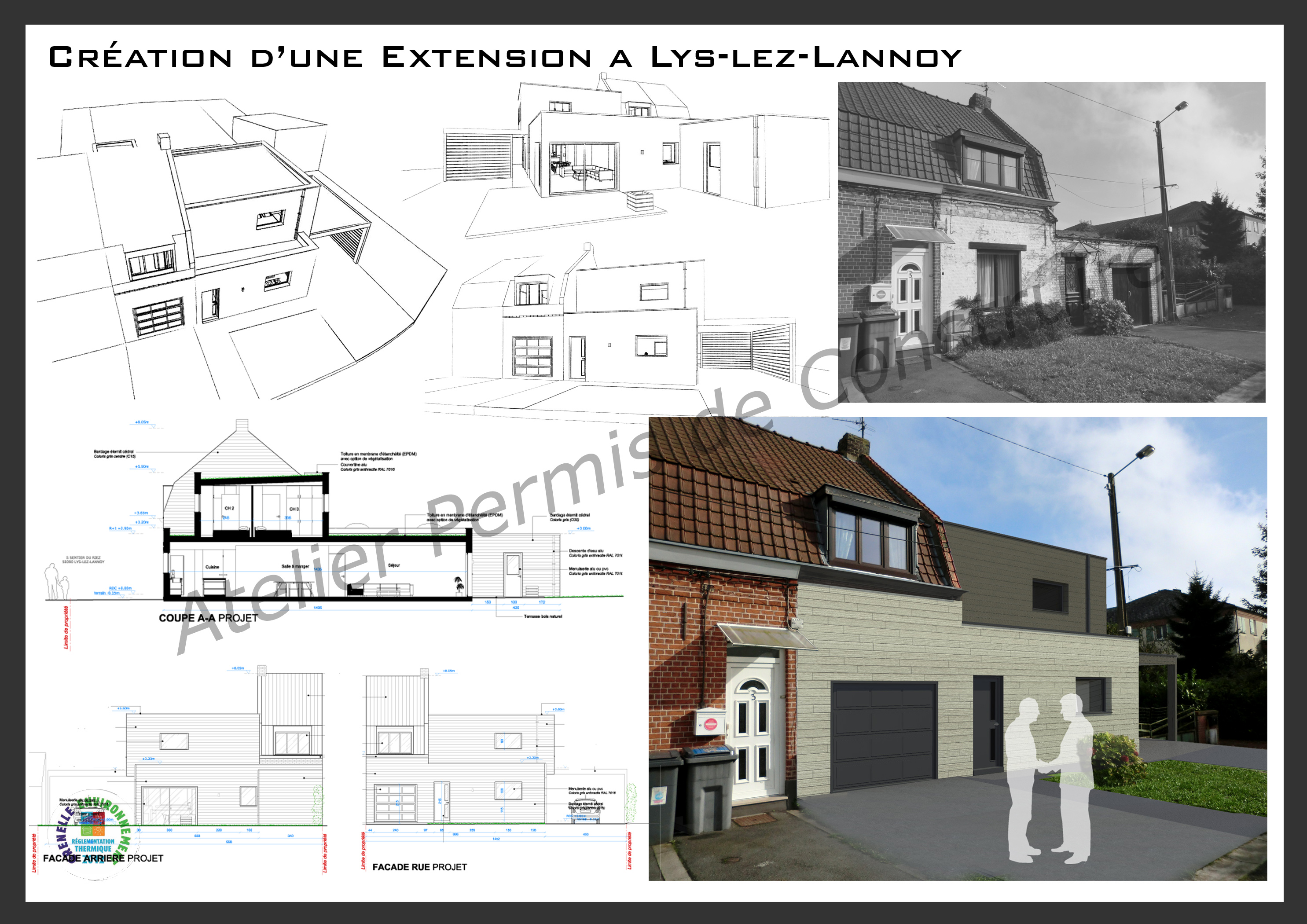 Extension atypique lys lez lannoy - Exemple agrandissement maison ...