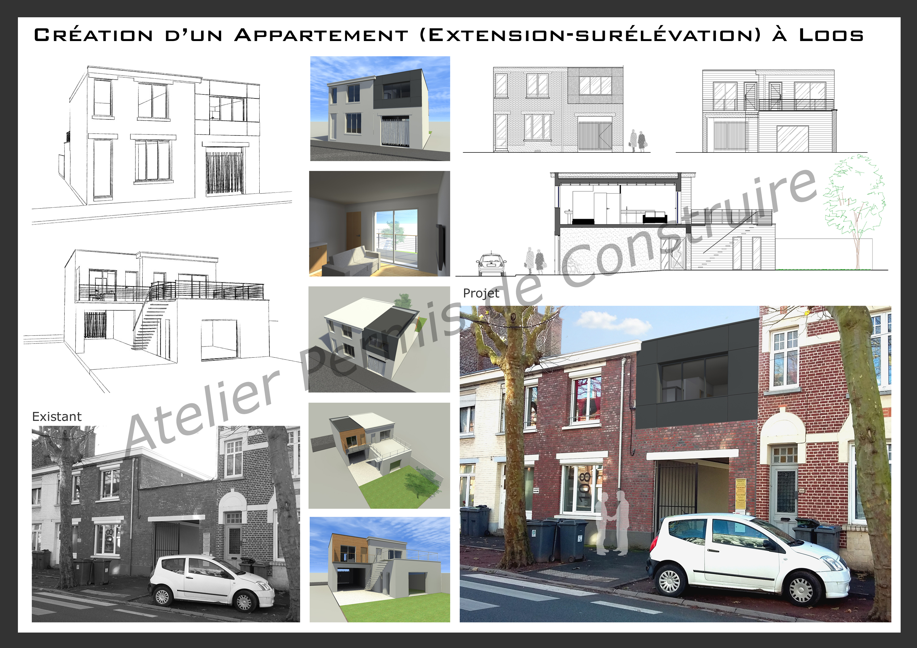 Cr ation d 39 un logement extension loos for Cout d un permis de construire