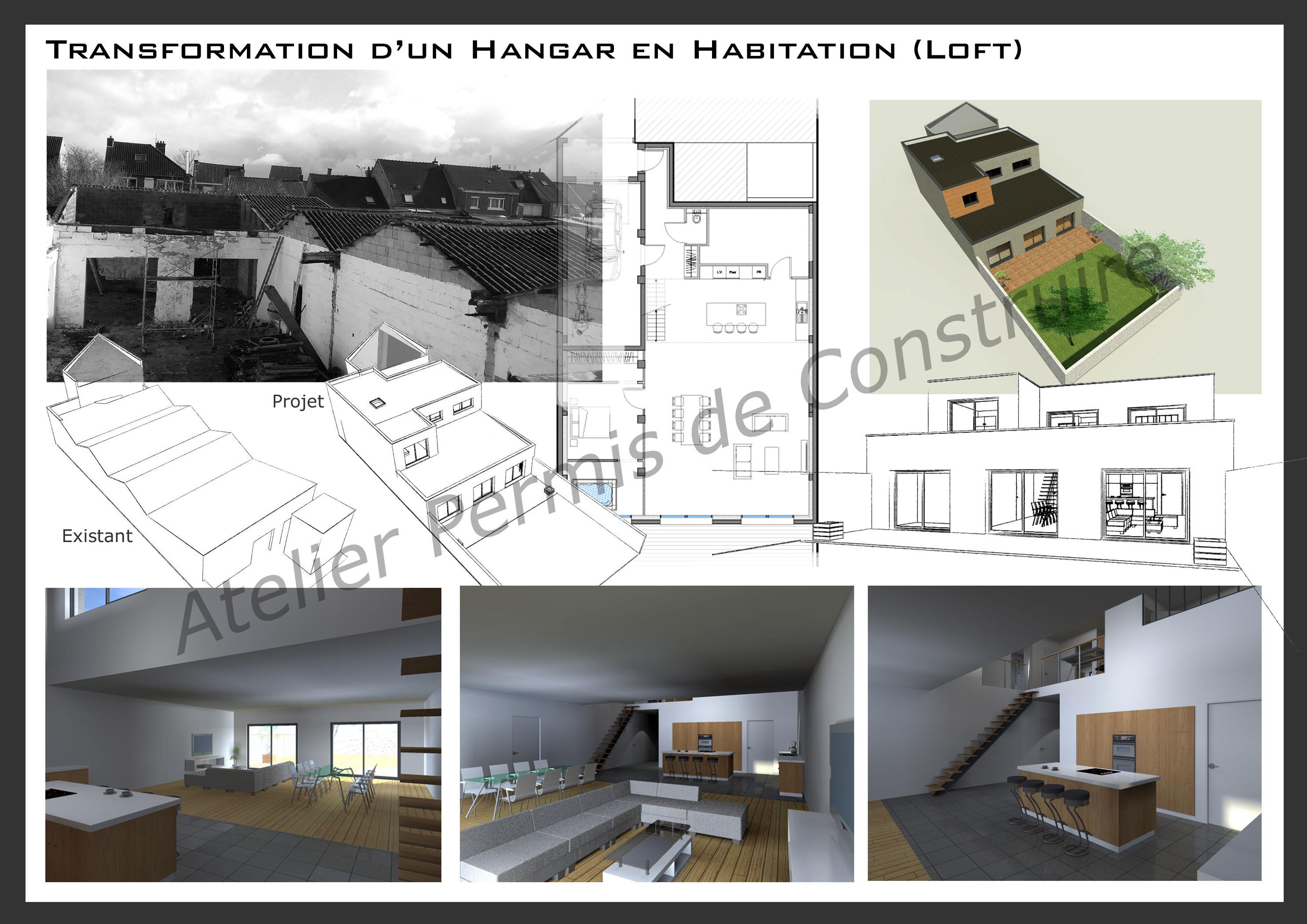 Transformation Grange En Habitation Rt 2012 transformation d'un hangar en loft à dunkerque