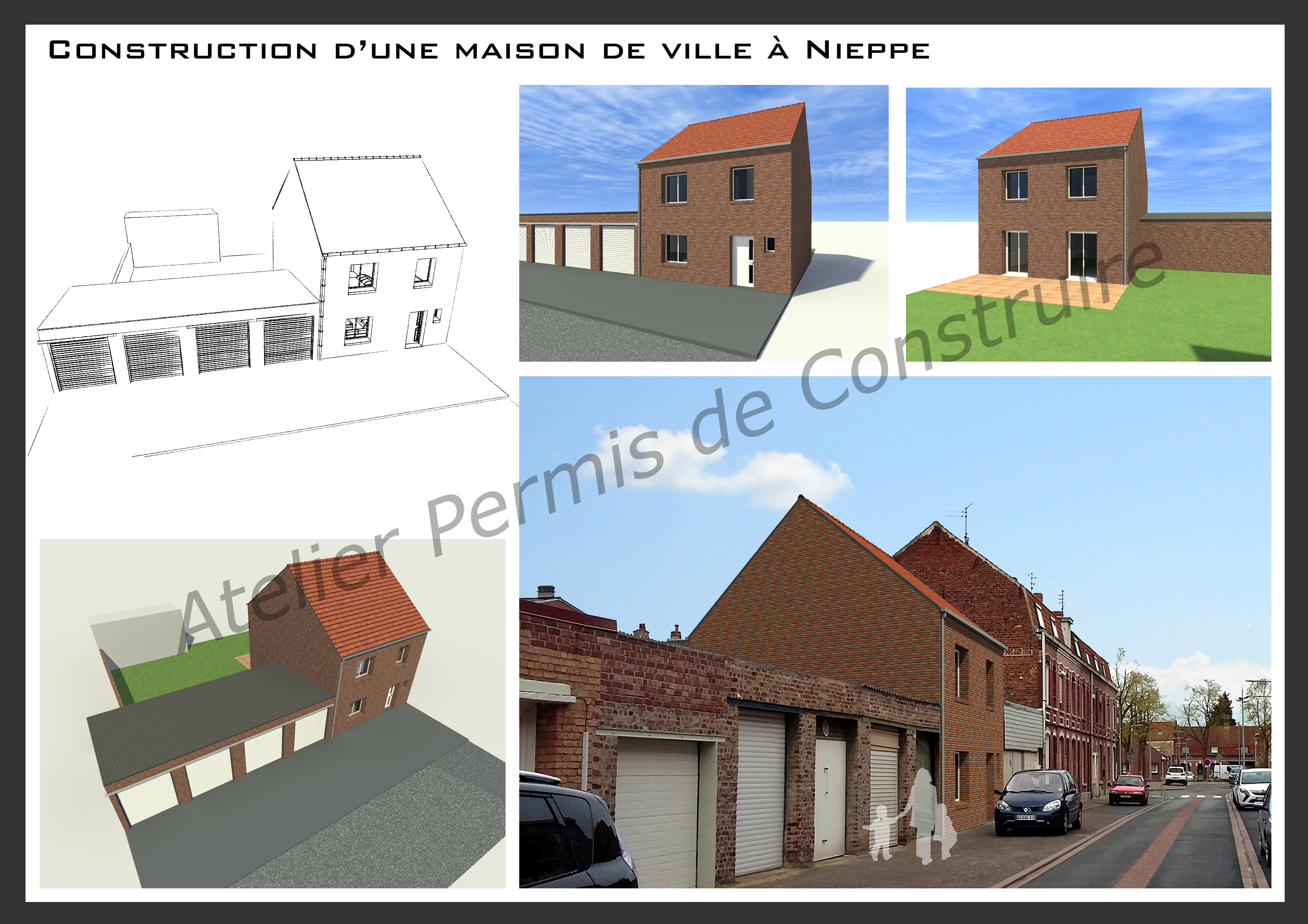 D molition de 2 garages construction d 39 une maison nieppe - Construction garage permis de construire ...
